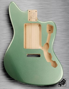 XGP Professional Offset Body Fits Strat® Tremolo Sage Green Metallic