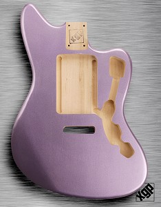 XGP Professional Offset Body Fits Strat® Tremolo Purple Haze Metalflake