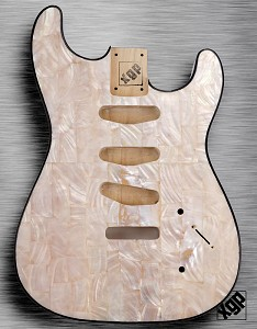 XGP REAL PEARL SHELL Strat Style Body 3 Single Coils