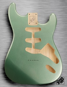 XGP Professional Strat® Body Sage Green Metallic Hardtail!