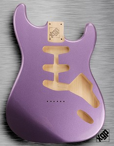 XGP Professional Double Cutaway Body Purple Haze Metalflake Hardtail!