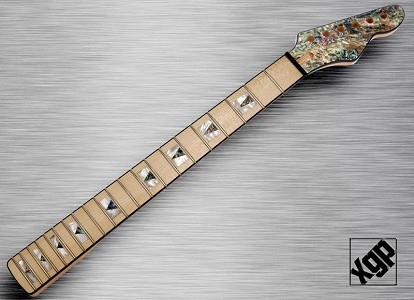 XGP Professional Double Cutaway Style Neck Maple REAL Abalone SHELL