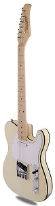 XV840 Solid Alder DOUBLE Bound Body, Vintage Cream, Maple Fingerboard