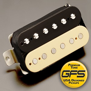 GFS professional Series Alnico V HOT Humbucker Zebra Case Neck Pickup