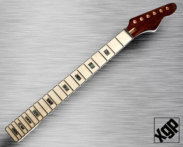 XGP Style Neck Maple, FitsTele® - Abalone Fingerboard, Bound, Angled Headstock