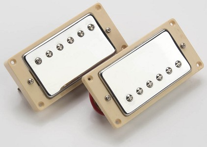 Pair of ceramic Humbuckers for LP cream rings