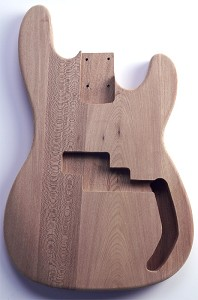 P Bass Body No Finish Solid ASH