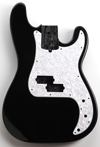 P Bass Lightweight Body Gloss Black Finish
