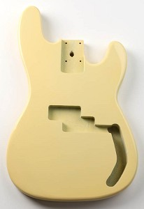 P Bass Lightweight Body Vintage Ivory Finish