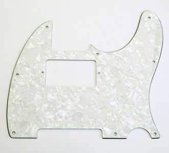 Custom Neck Humbucker PIckguard for Tele White Pearloid