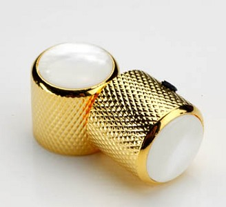 Gold Tele® Knobs Real Pearl Shell Tops