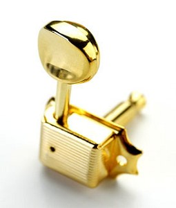 Gold Vintage Fender®-Style tuning Machines/Press fit Bushings