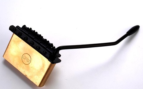 "Solid Brass Block ""Shorty"" ""Squier"" and Import Compatible 10.5mm Black  Tremolo"