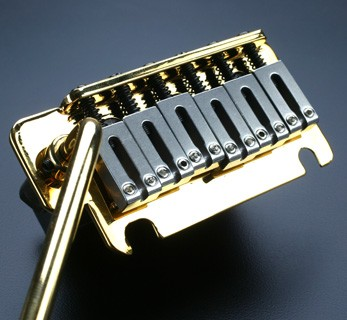 2 point Hardened Steel GOLD Tremolo System - Fits USA Strat®