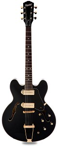XV-910 Semi Hollowbody Gold Hardware, Alnico P90s, Gloss Black