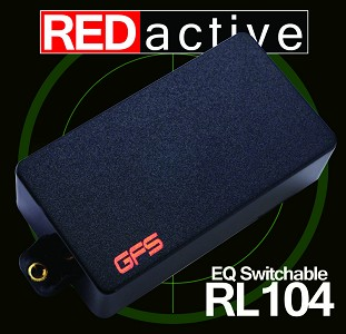 REDactive EQ Switching Humbucker Active Bridge position Black