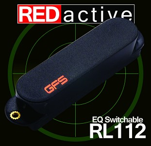 REDactive EQ Switchable Active Neck position Black - Fits Strat®