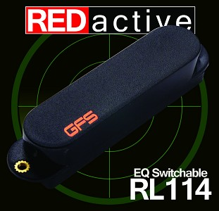 REDactive EQ Switchable Active Bridge position Black - Fits Strat®