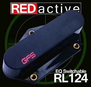 REDactive EQ Switchable Tele Bridge Pickup Active Black Case