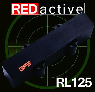 REDactive Jazz Bass Active pickup neck Position black Case