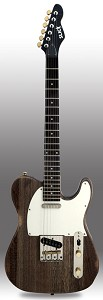 Slick SL51 Aged Brown Woodgrain Dual Single-Coil Pickups