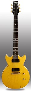 Slick SL60 Distressed TV Yellow Dual P90 Pickup