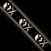 Slickstraps Skulls and Swords - (SSS) Black/Ivory-Blem