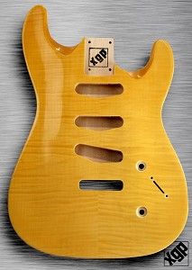 XGP Arched Top Strat® Body Flamed Maple 3 Singles Vintage Natural