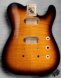 XGP Arched Top Tele Body Flamed Maple 2H Sunburst