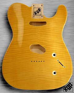 XGP Arched Top Tele® Body Flamed Maple 2 Tele® Pickups Vintage Natural