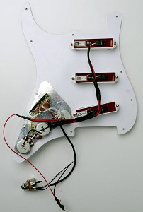 GFS REDactive USA Custom Shop Hand Wired Pickguard Assembly