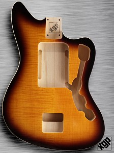 XGP Offset Body Double Bound Flamed Maple Vintage Sunburst
