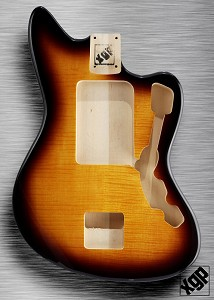 XGP Professional Offset Body Flamed Maple Top Vintage Sunburst