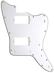 XGP 3 Ply Hand Aged White Offset Pickguard- 2 Humbucker pickups