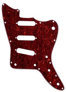 XGP 3 Ply Tortoiseshell Offset Pickguard- 3 Single Coils