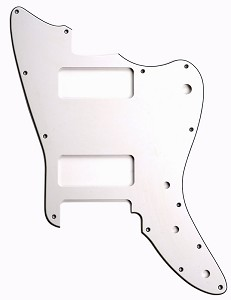 XGP 3 Ply Hand Aged White Offset Trem Pickguard-- Fits Strat®- 2 P90
