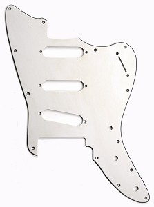 XGP 3 Ply Hand Aged White Offset Strat® Trem Pickguard- 3 Singles