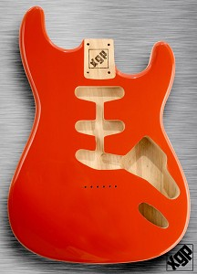 XGP Professional Strat® Body Capri Orange Hardtail!
