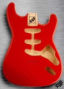 XGP Professional Double Cutaway Body Fiesta Red Hardtail!