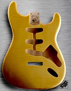 XGP Professional Strat® Body Vintage Natural Flamed Maple