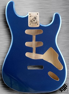 XGP Professional Double Cutaway Body 1963 Lake Placid Blue Metallic