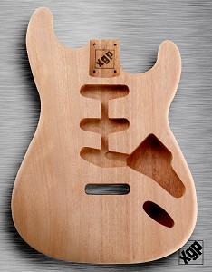 XGP Professional Double Cutaway Body Unfinished Solid Mahogany