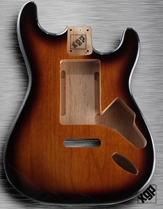 "XGP ""Swimming Pool Rout"" Professional Strat Body Sunburst SOLID SWAMP ASH"