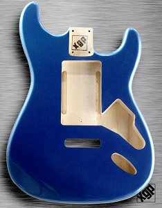 "XGP ""Swimming Pool Rout"" Professional Double Cutaway Body 1963 Lake Placid Blue Metallic"