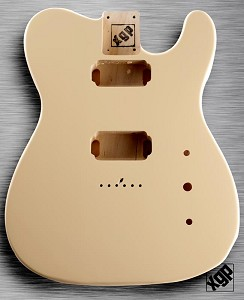 XGP Professional Tele Body 2 Humbuckers Vintage Cream