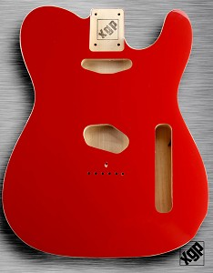 XGP Professional Double Bound Tele® Body Fiesta Red