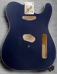 XGP Professional Double Bound Tele® Body Gunmetal Grey Metallic