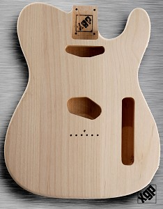 XGP Professional Tele Body Unfinished Solid USA Alder