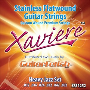 Xaviere Stainless Flatwound Strings Heavy Jazz Set