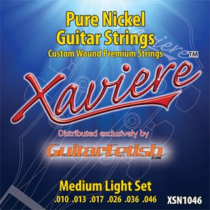 Xaviere Pure Nickel Strings Medium Light Gauge